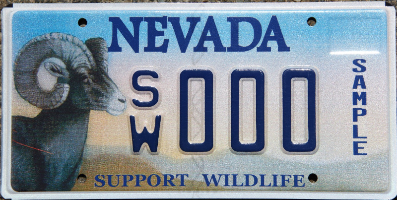 SAMPLE - BIGHORN SHEEP (manufacturing defect on sheep) (DMV donation to ALPCA only flat s&les available to public according to DMV website) & ALPCA license plates for sale | easyPL8S.com